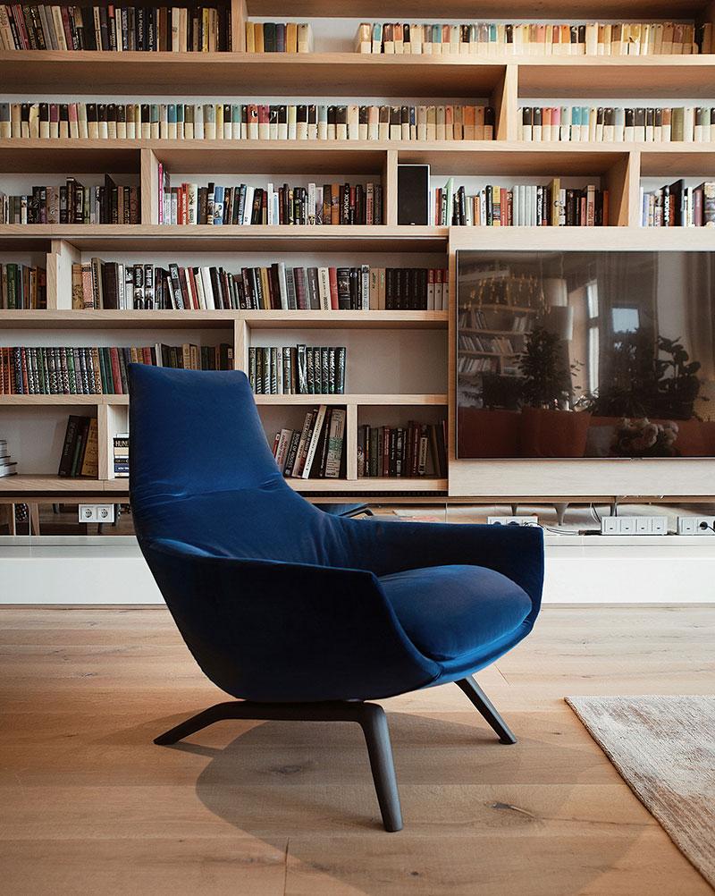 современные библиотеки в квартире
