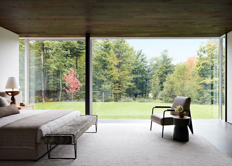 дом с стеклянными стенами
