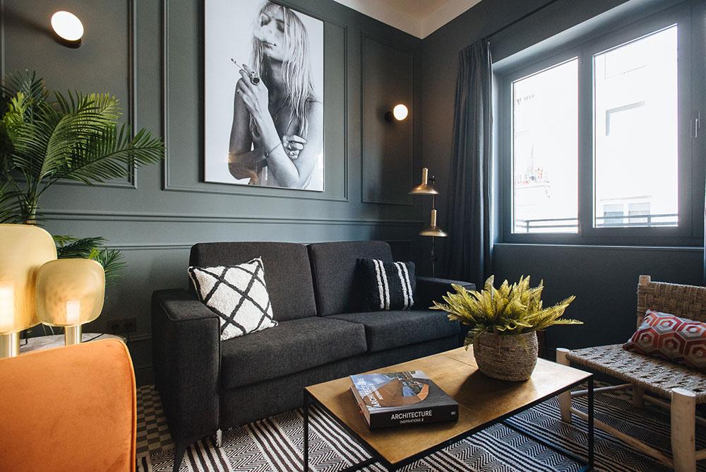 компактный интерьер однокомнатной квартиры
