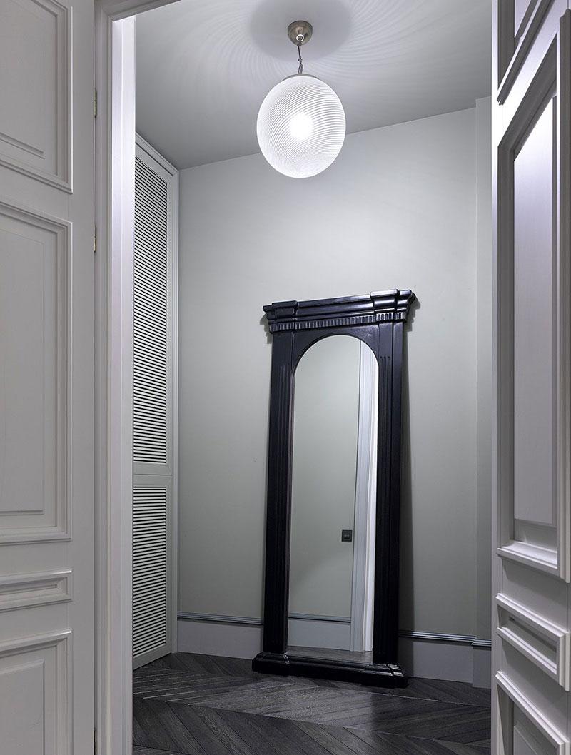 дизайн квартиры в бело серых тонах