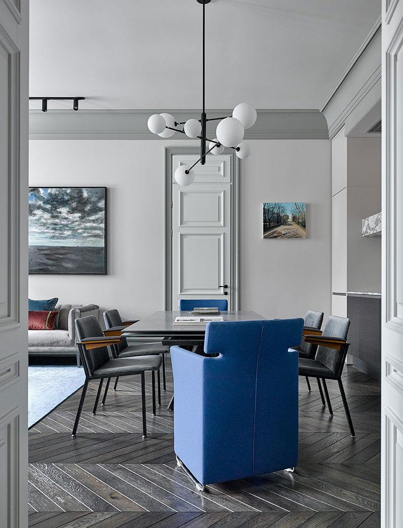 дизайн квартиры в серых тонах современный стиль