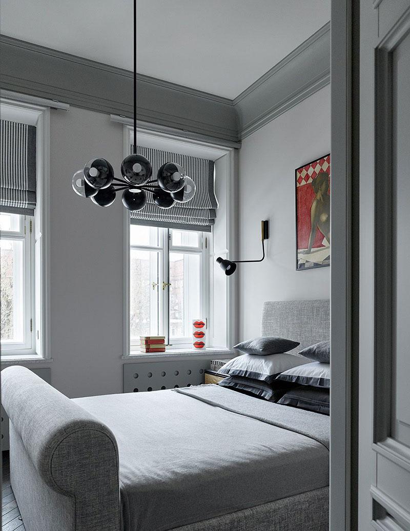 дизайн квартиры в серо белых тонах фото