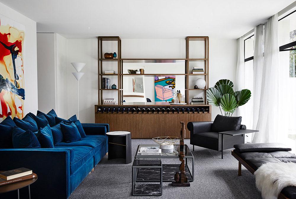 современный стильный дом интерьеры