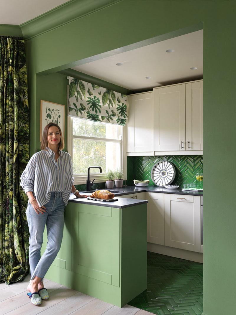 интерьер квартиры в зеленых тонах фото