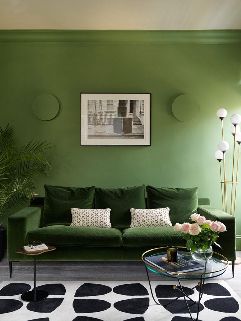 интерьеры квартир в зеленых тонах фото