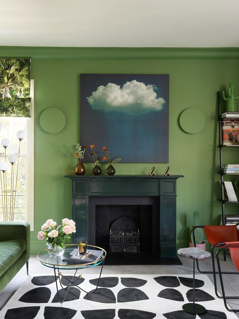 квартира в ярко зеленых тонах