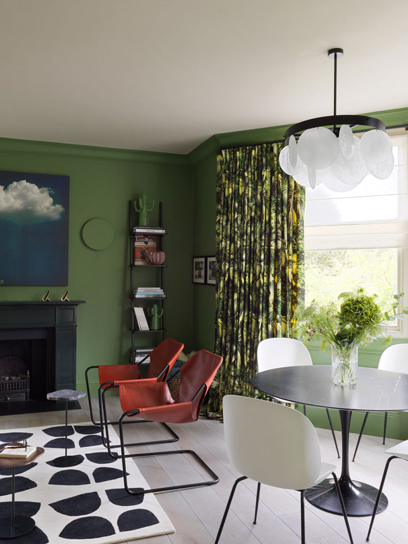 фото интерьеров квартир в зеленых тонах