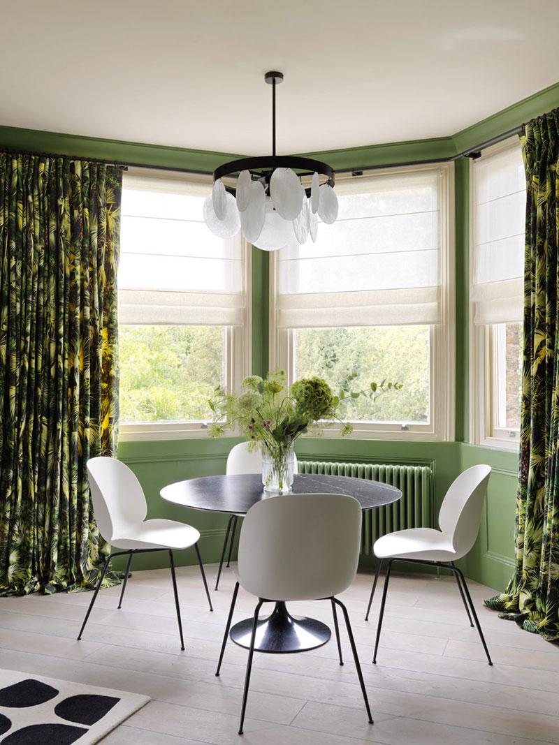интерьеры квартир в зеленых тонах