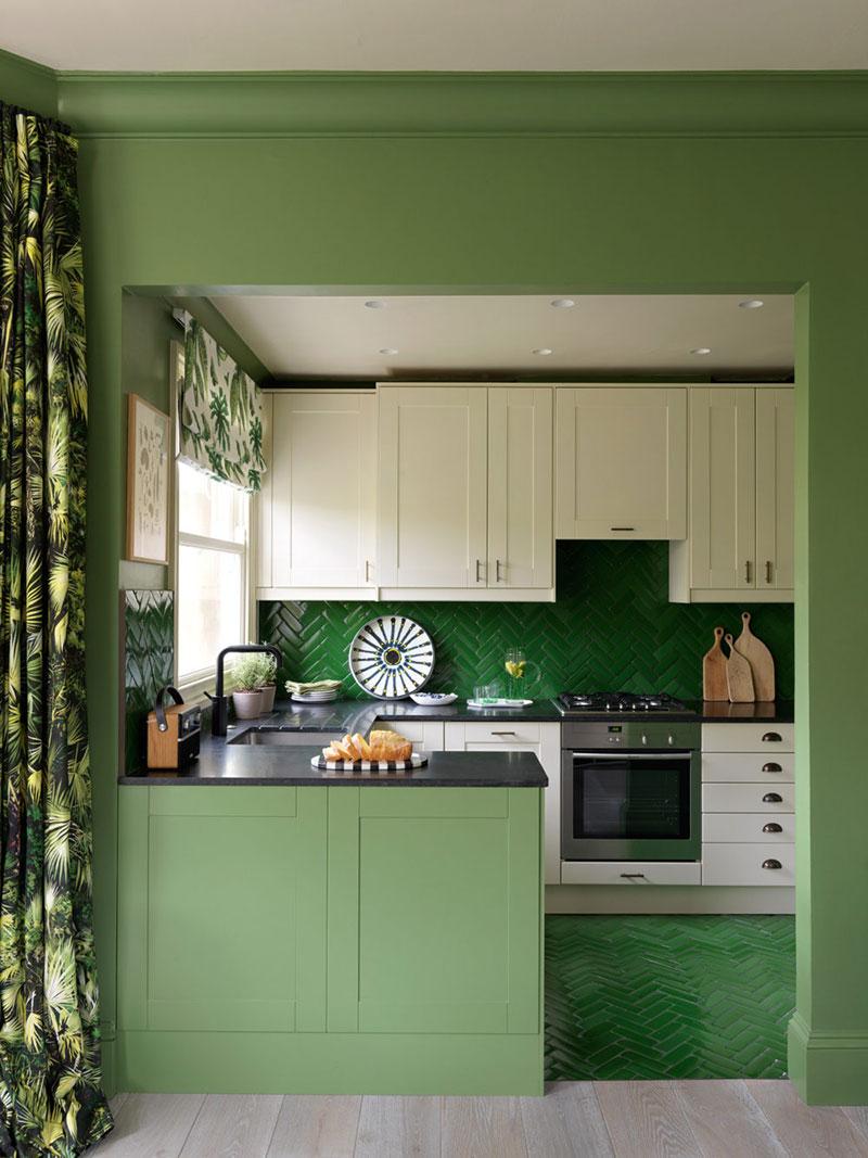 фото интерьера квартиры с зелеными тонами