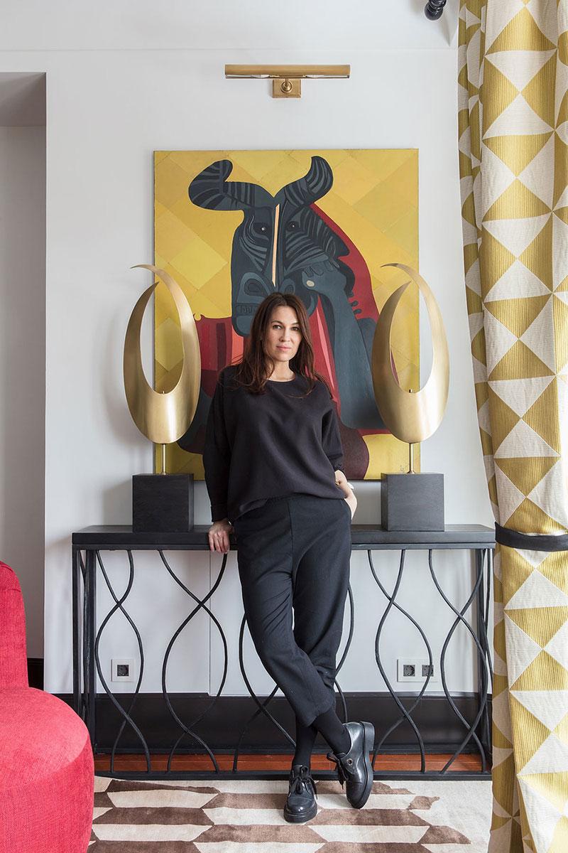интерьер гостиной в стиле эклектика в квартире