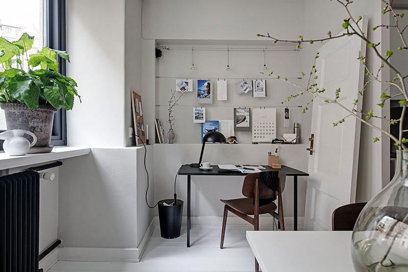 дизайн черно белой однокомнатной квартиры