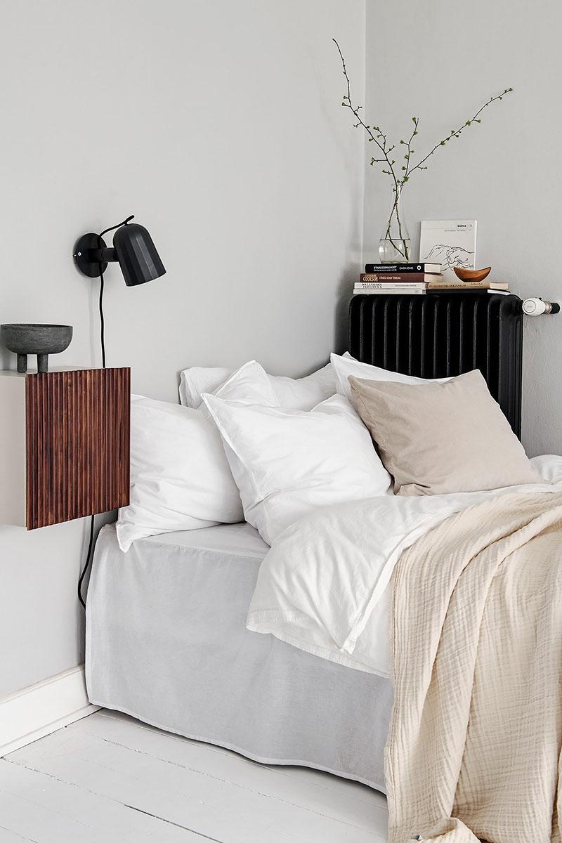 черно белый интерьер однокомнатной квартиры