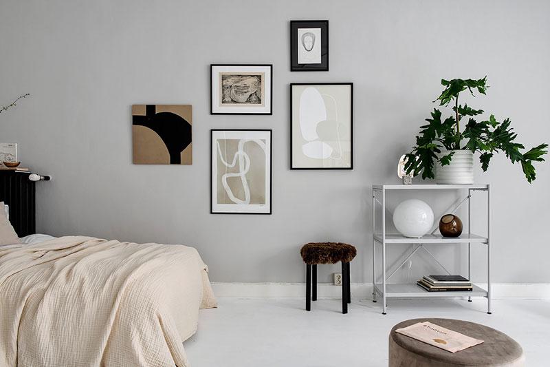 дизайн в черно белых тонах однокомнатной квартиры