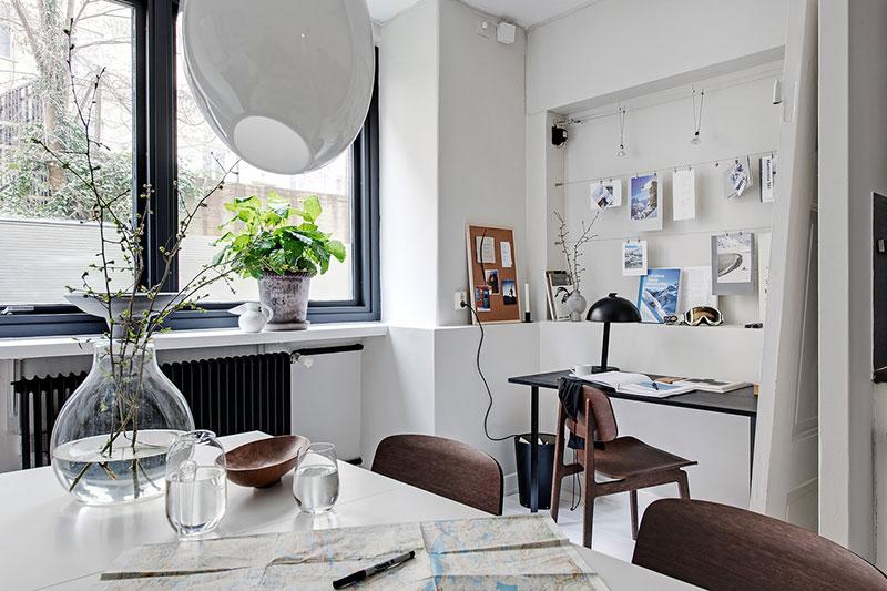 дизайн однокомнатной квартиры в черно белых тонах