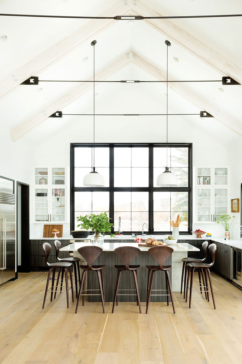 интерьер в американском стиле загородного дома