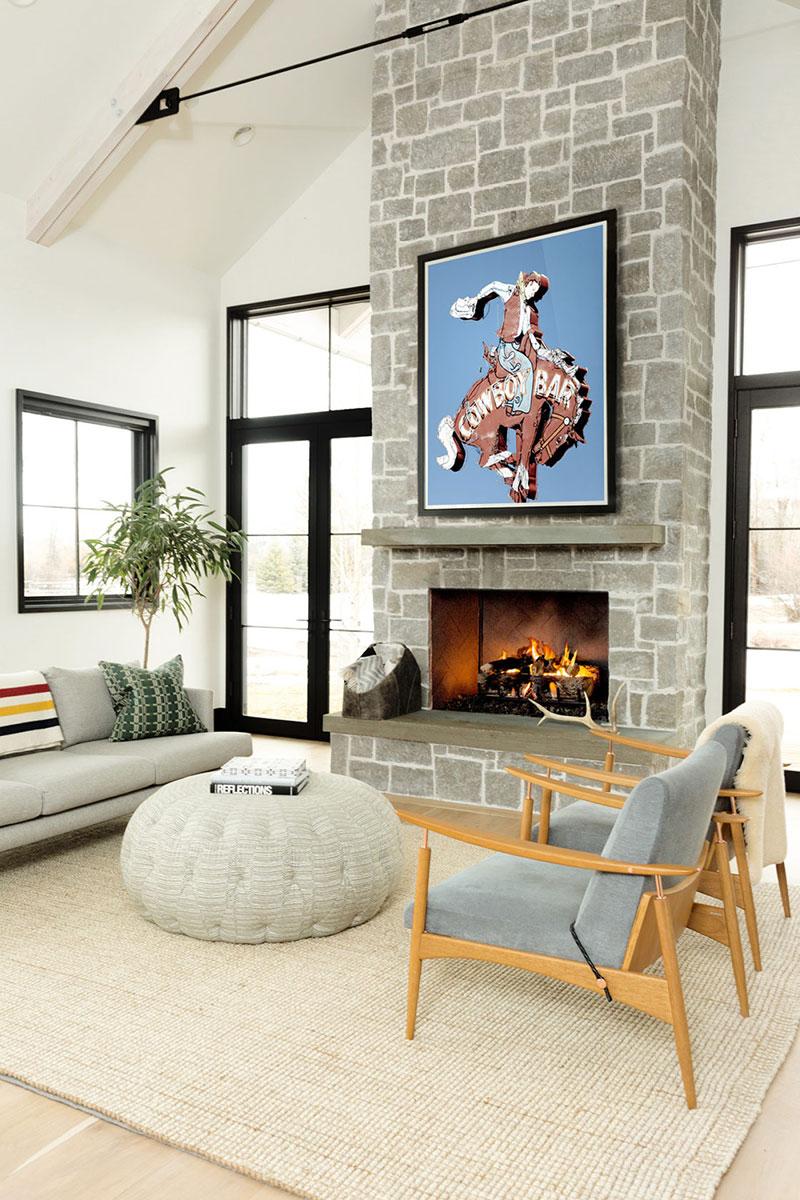интерьер загородного дома в американском стиле фото