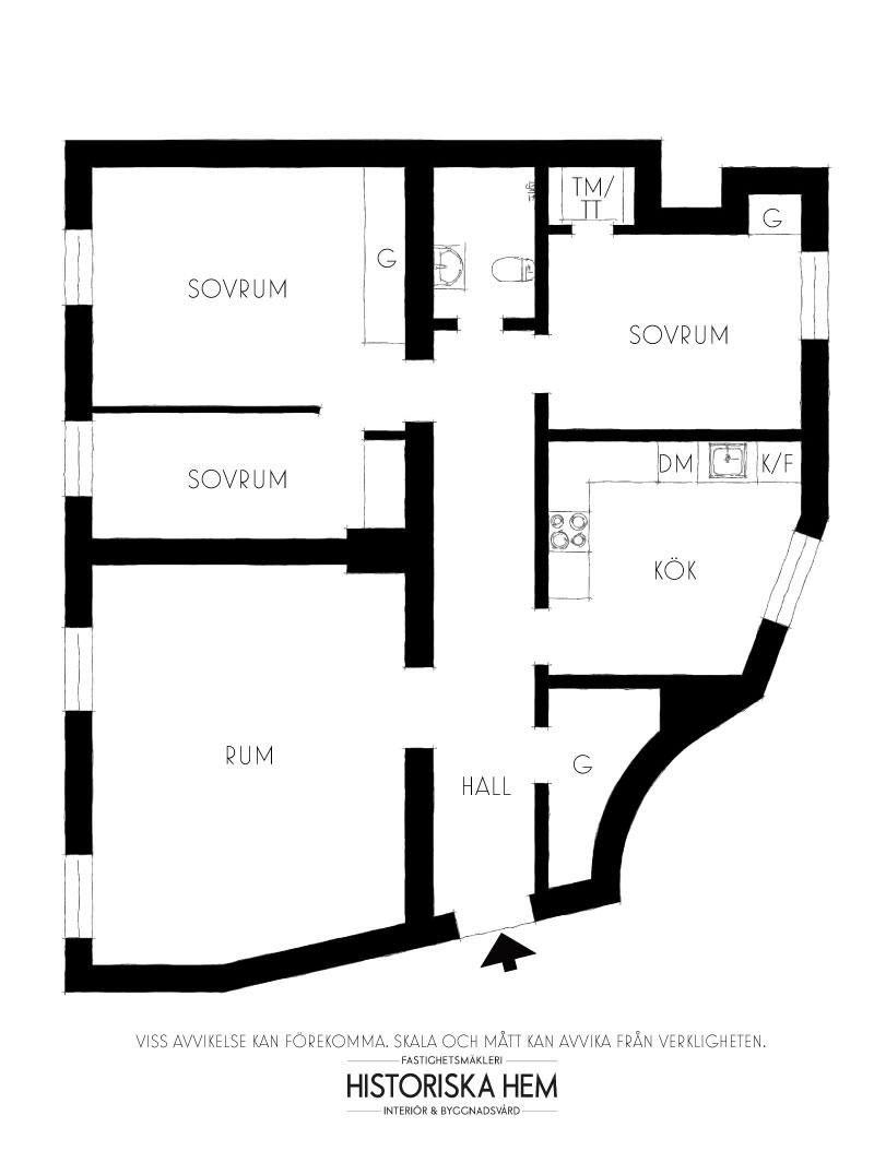 Interesting Scandinavian design in 100-year-old building in