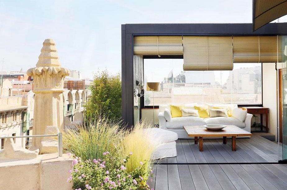 интерьер квартиры терраса