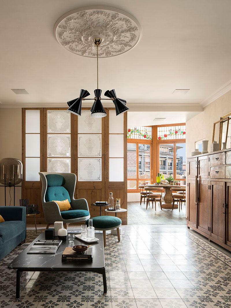 интерьер квартир с террасой