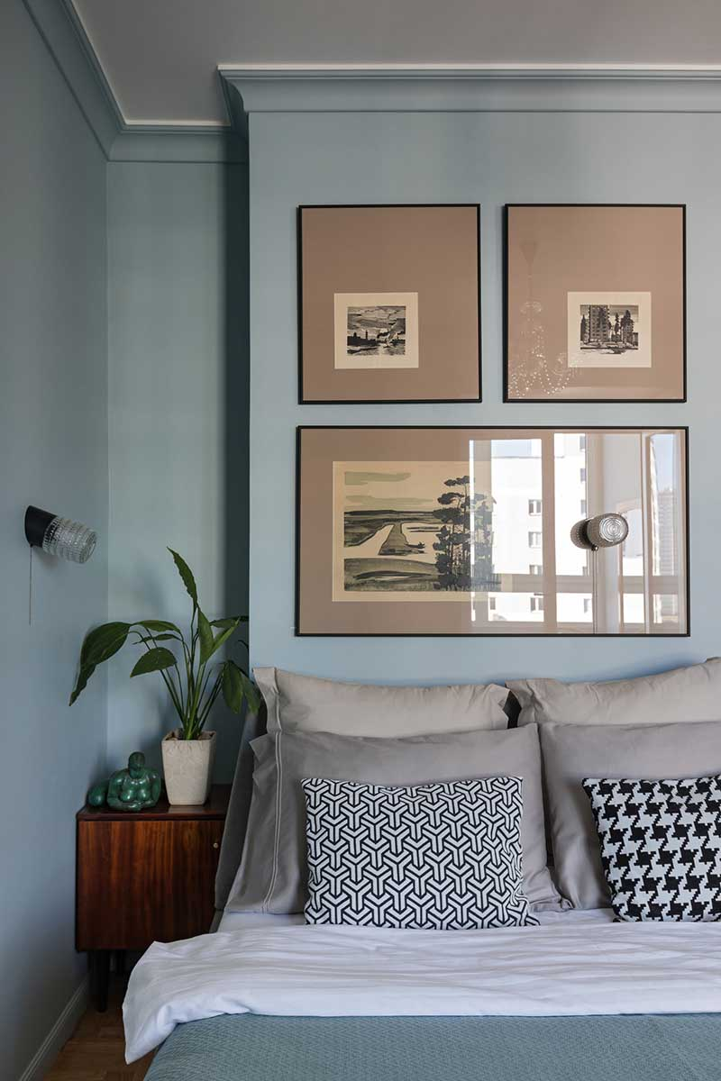 интерьер квартиры в ретро стиле фото