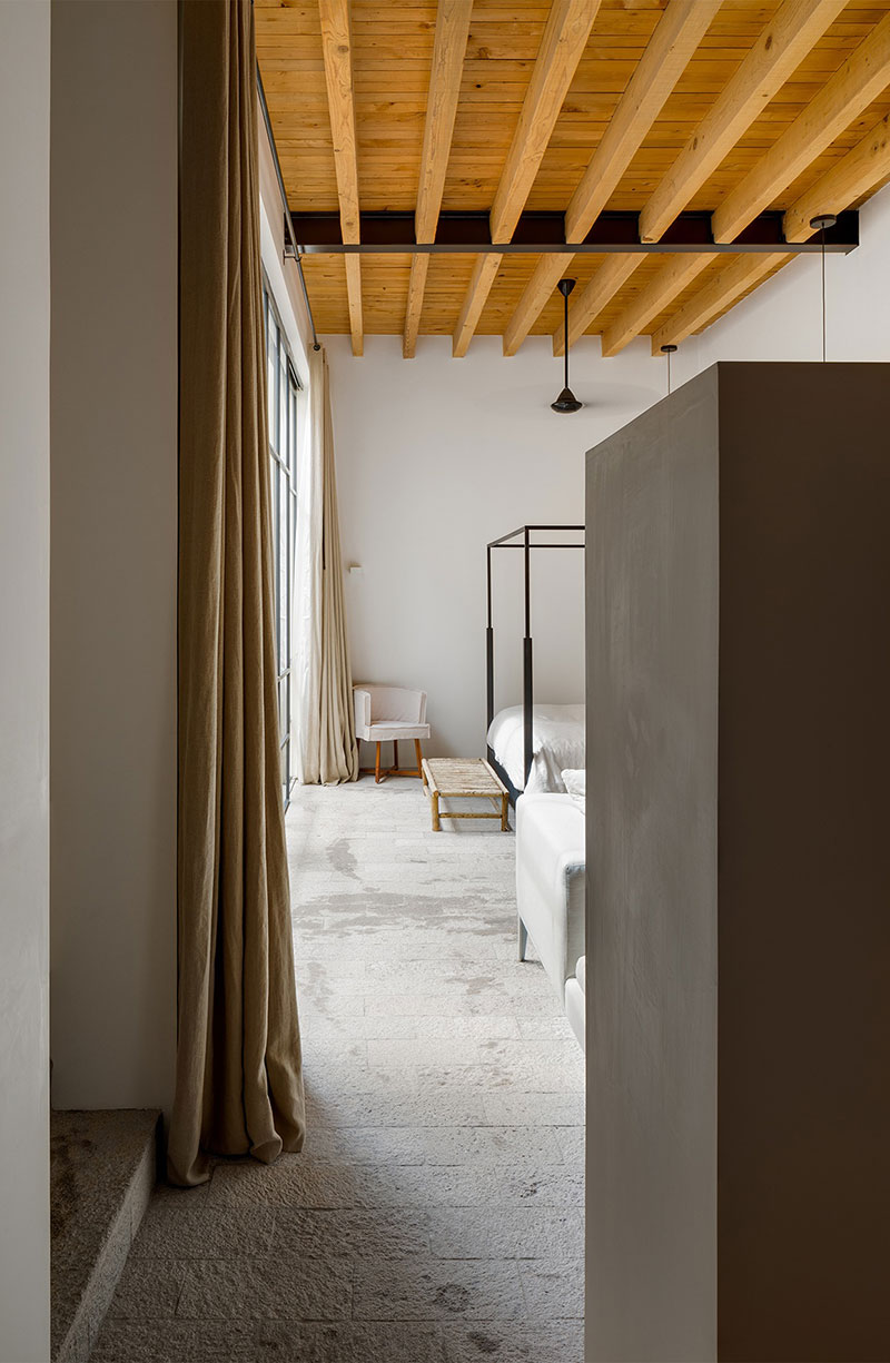 деревянные балки в интерьере