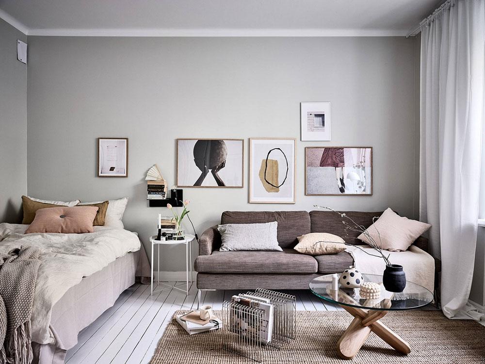 дизайн однокомнатной квартиры швеции