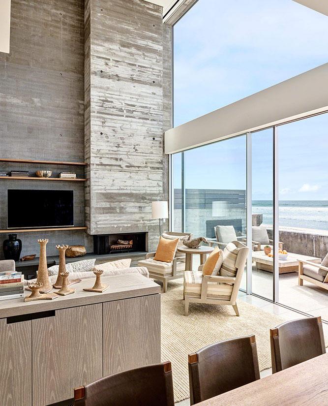 дом на пляже интерьер