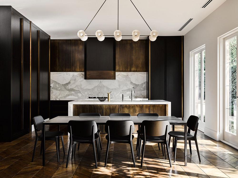 стильный дорогой дизайн интерьера в современном стиле