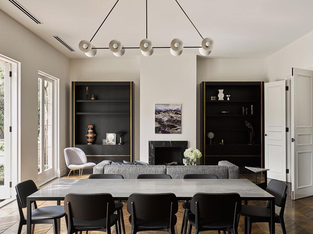 стильный современный дизайн гостиной в квартире