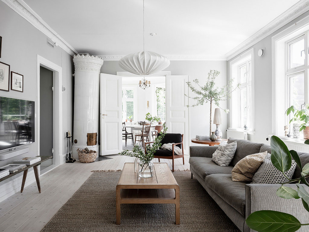 Bright Scandinavian Home Filled With Live Plants Photos Ideas Design