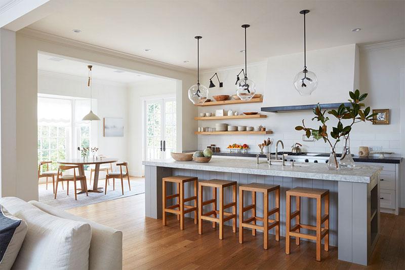 интерьер кухня в американском стиле