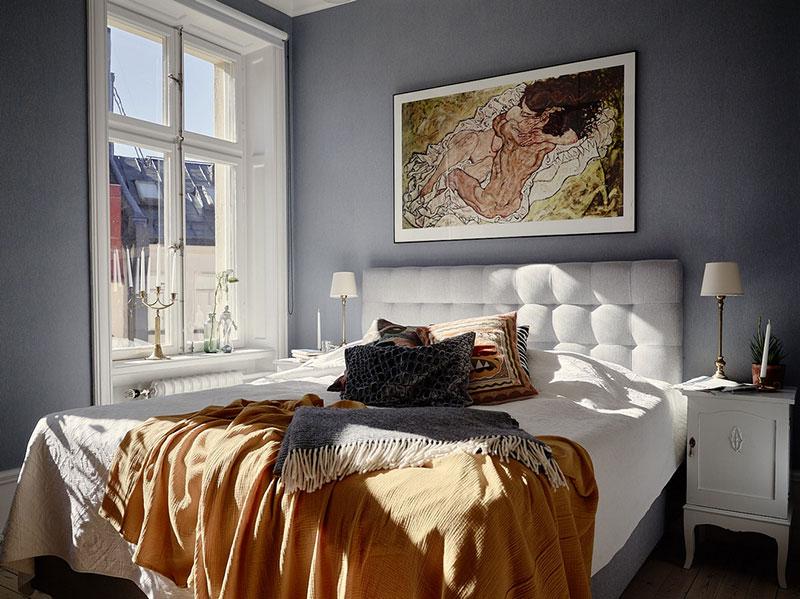 интерьер квартиры с комнатам разных цветов