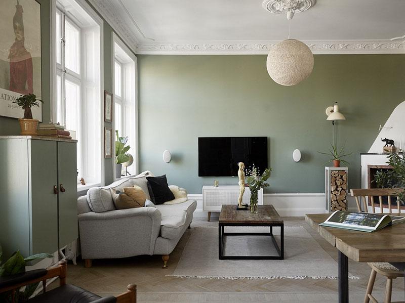 сочетание цветов в разных комнатах квартиры