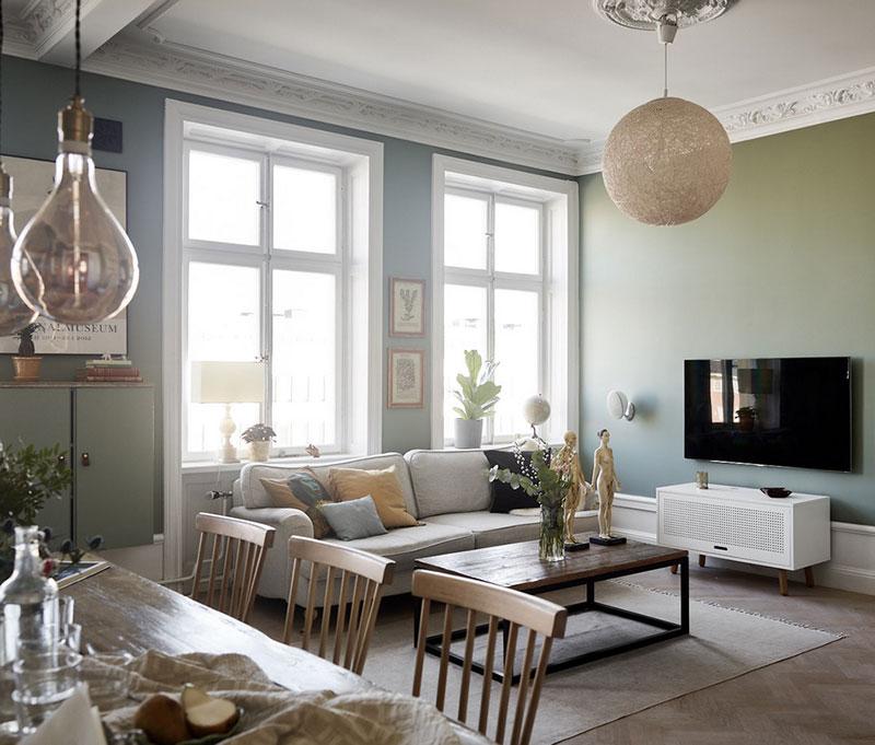 сочетание цвета разных комнат в квартире