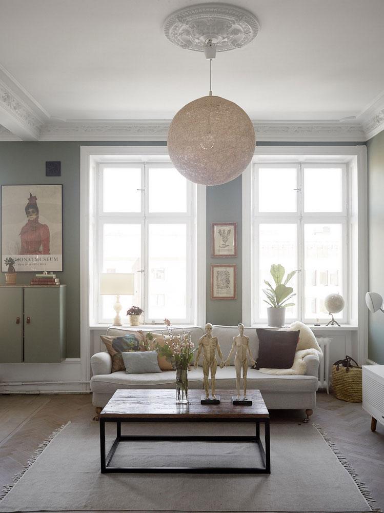 разным цветом комнаты в квартире