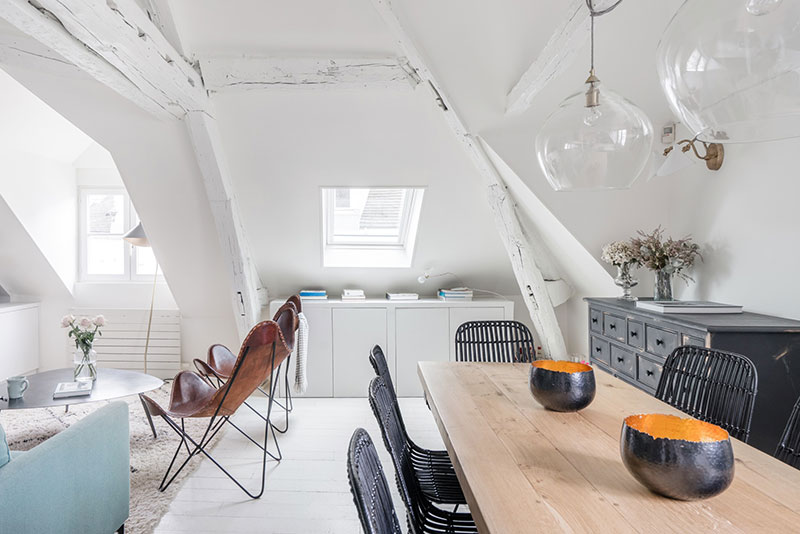 дизайн мансардной квартиры