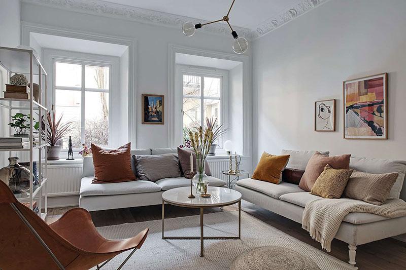 белая квартира в швеции