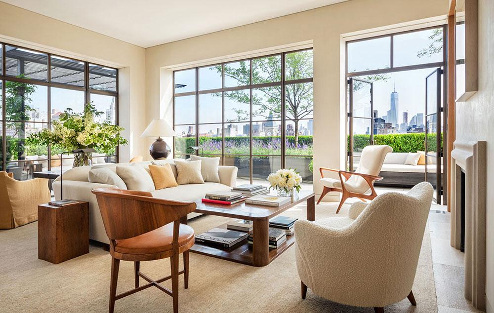 интерьер гостиной в апартаментах