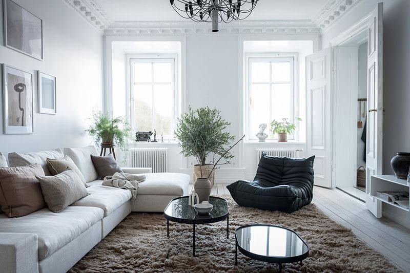 квартира в белом цвете интерьер