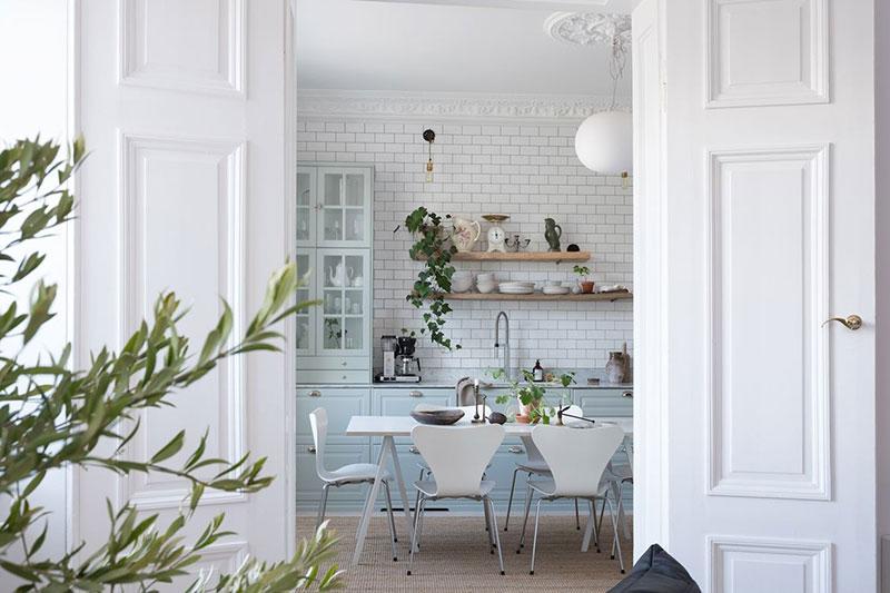 белый интерьер маленькой квартиры