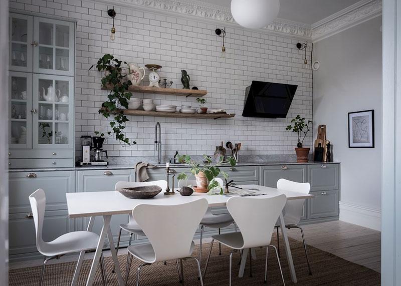 интерьер квартиры черно белый