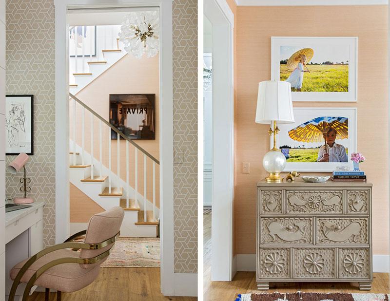 яркие интерьеры деревянного дома