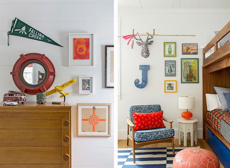 яркий дизайн интерьера в доме