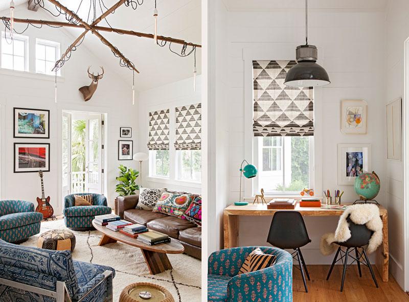 яркие цвета в интерьере дома