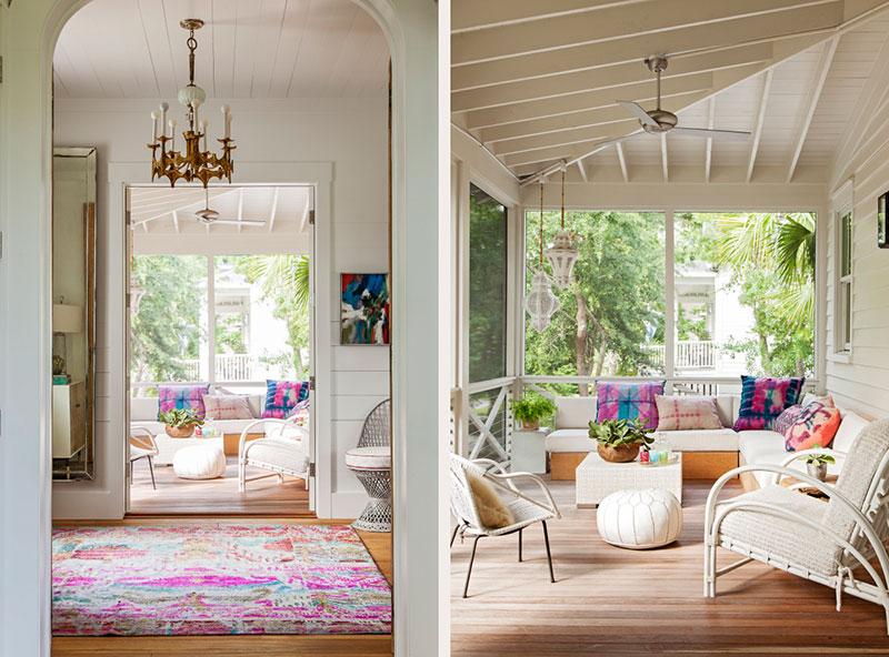 яркие интерьеры в деревянном доме