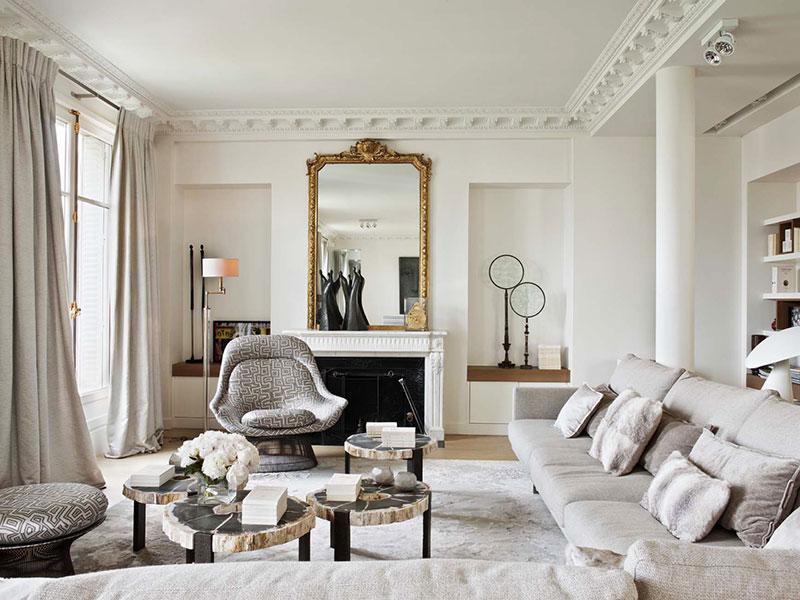 фото парижский стиль в интерьере