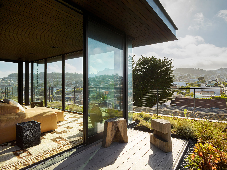 Класс! Эклектичный таунхаус с панорамной террасой на крыше в Сан-Франциско