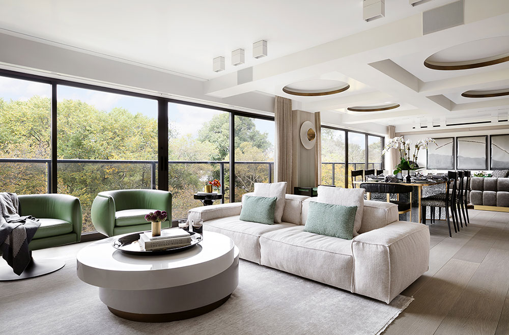 Stylish modern apartment with views of Central Park in New ...