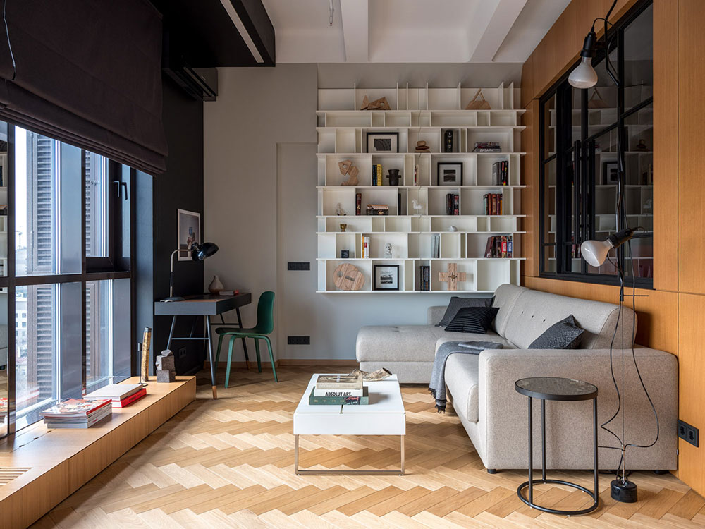 Small apartment with industrial character and 4-meter ...