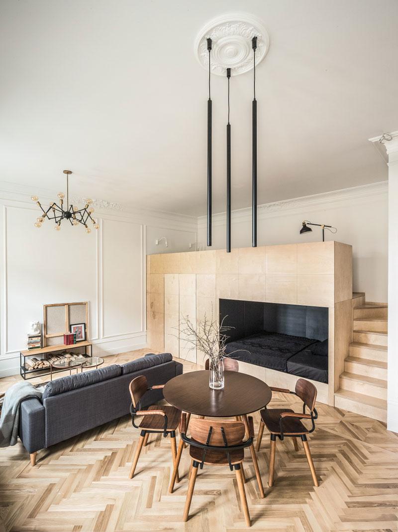 интерьер для маленькой квартиры антресоль